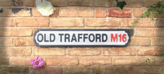 Wooden Road Sign - Old Trafford M16