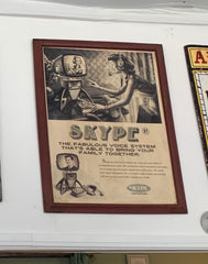 Vintage Skype call wall art 2