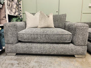 Hayden large loveseat in grey mix chenille weave fabric RRP £1299
