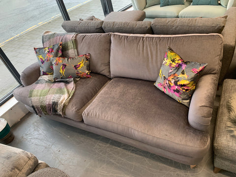Otley large 4 seater standard back sofa in mystic silver velvet fabric RRP £1599