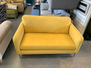 Ashley medium 2 seater sofa in sunny yellow brushed cotton fabric RRP £999
