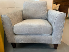 Carnaby accent armchair in silver grey chenille fabric