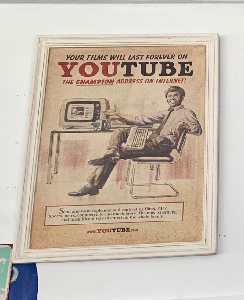 Vintage Youtube call wall art
