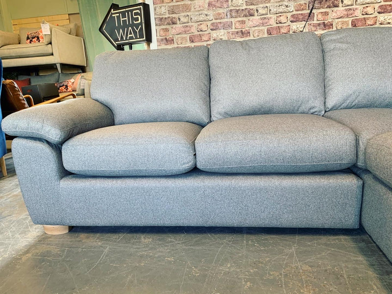 Camden small right facing cushion back corner sofa in grey weave fabric  RRP £1599