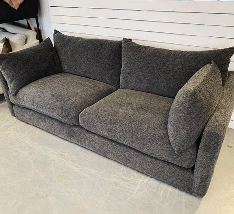 Luca large 3 seater standard back sofa in charcoal chenille fabric RRP £1269