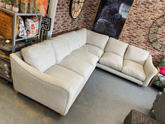 Bumpster XL right facing standard back corner sofa in natural jute style fabric RRP £3695