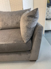 Luca standard back 3 seater sofa in charcoal grey chenille fabric