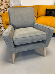 Hector accent armchair in charcoal grey mix weave fabric RRP £599
