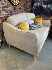 Edit 2 seater standard back sofa in biscuit weave fabric