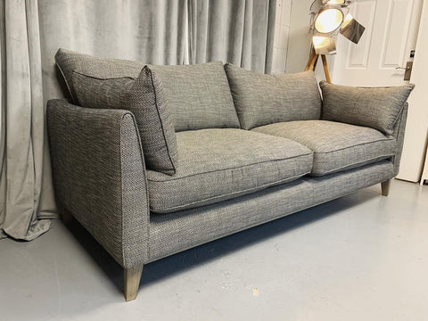 Aster large 3 seater sofa in charcoal grey mix weave fabric RRP £1799