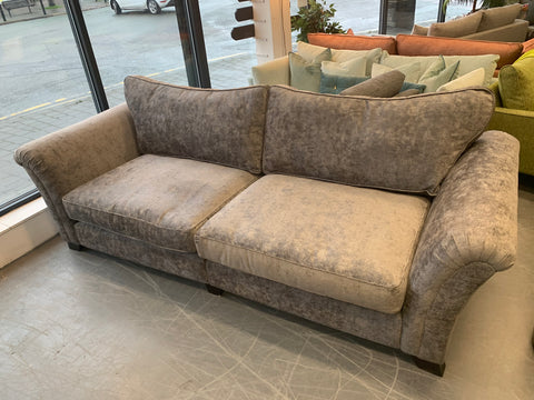 A - Ashley Manor Anastasia Split 4 Seater Standard Back Sofa In Grey Chenille Fabric