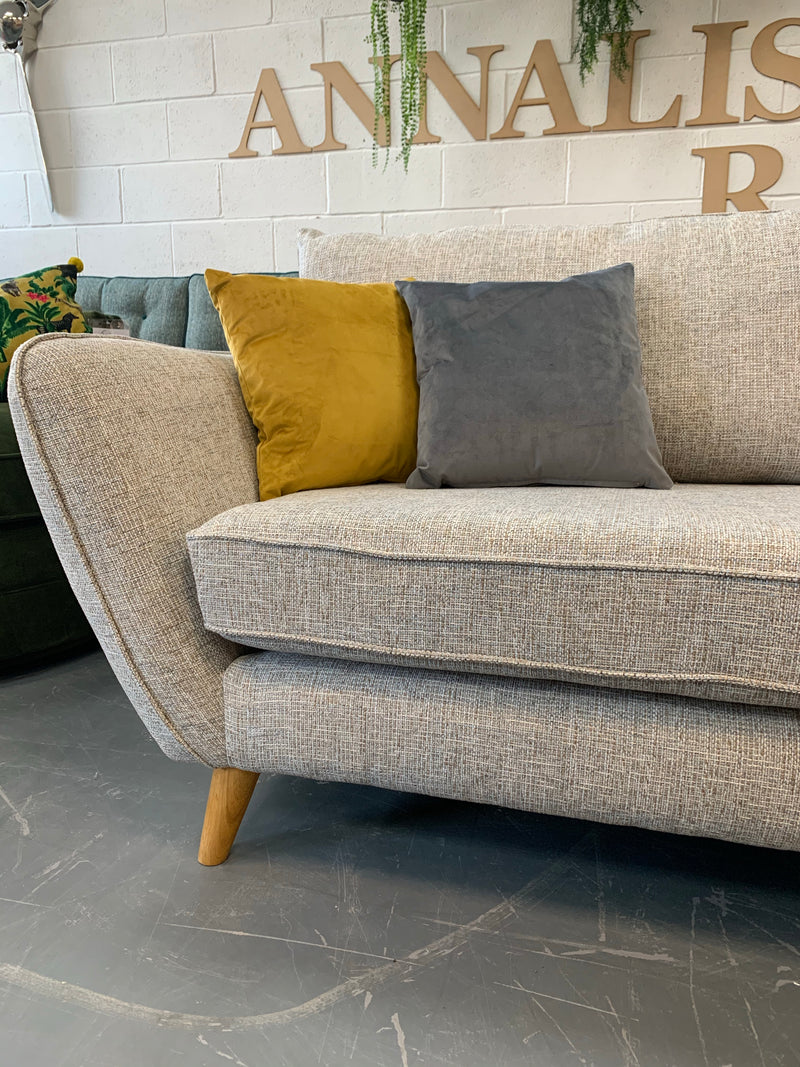 Perth large standard back 4 seater sofa in Elsie spa mix weave fabric