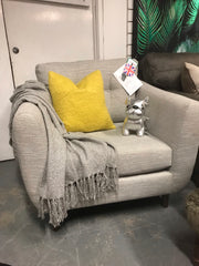 Connection large armchair in light grey weave fabric RRP £799