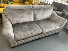 Alexis large 3 seater standard back sofa in grey chenille fabric RRP £1399