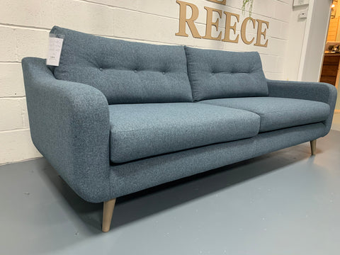 Lisbon large 4 seater sofa in mix blue/grey weave fabric RRP £1299