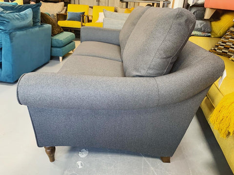 Camber 3 seater standard back sofa in charcoal grey wool mix fabric RRP £1599