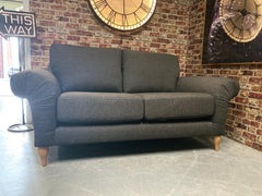 Grace 2 seater standard back sofa in charcoal grey fabric RRP £1099