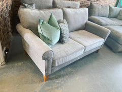 Arlo standard back 2 seater sofa in silver/light grey chenille fabric RRP £895