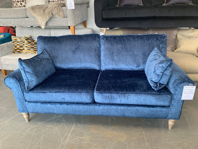 Waverley Sofas & Stuff 2 seater standard back sofa in royal blue textured velet fabric