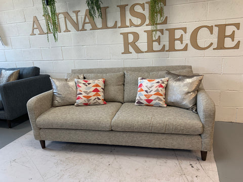 A - Neve Grey Weave Fabric 3 Seater Sofa RRP £699