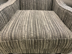 Whitton striped accent chair in grey boucle fabric