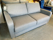 Maison 3 seater standard back sofa bed in light grey weave fabric