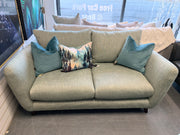 Hockley standard back armchair in sage green fabric