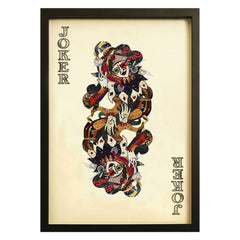Playing card Joker wall art