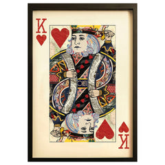 Playing card King of Hearts wall art