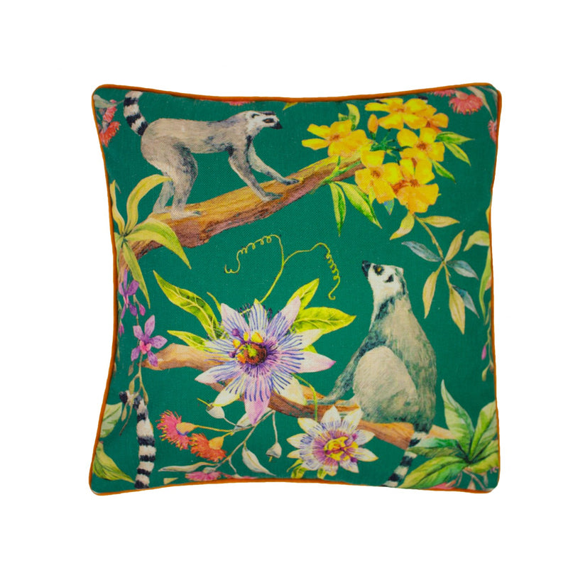 LEMUR CUSHION - GREEN 50 X 50CM