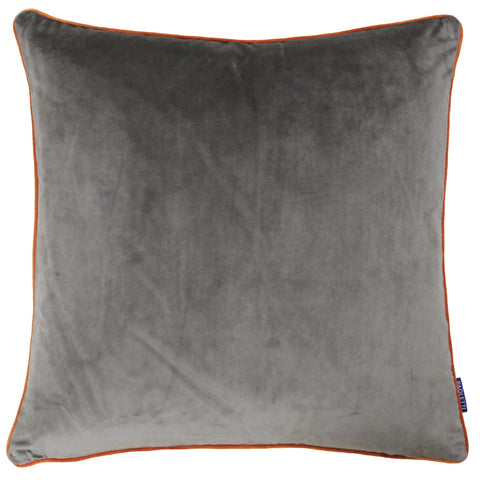 D - MERIDIAN CUSHION - MOCHA / ORANGE 55 X 55CM