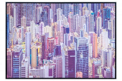 Skyscrapers Colourful Canvas Print wall art