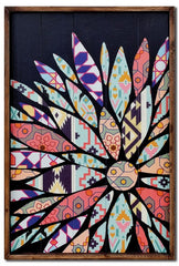Flower Patchwork Panel right aligned wall art