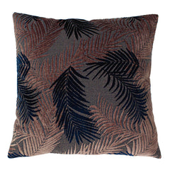PALM GROVE CUSHION - BLUSH/NAVY 50 X 50CM