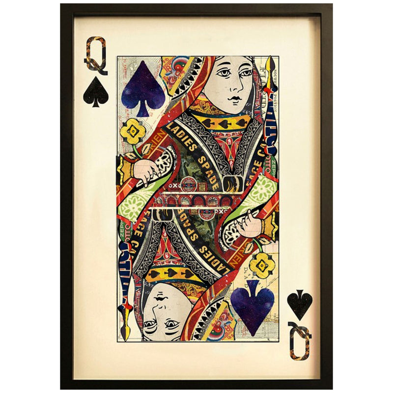 Playing card Queen of Spades wall art