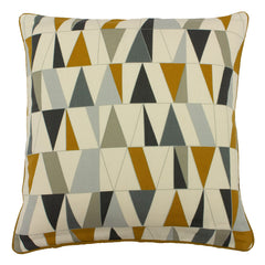 RENO CUSHION - CHARCOAL/GOLD 45X45CM