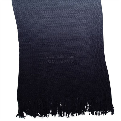 E - THROW - RHINE KNIT 130 X 180CM BLUE