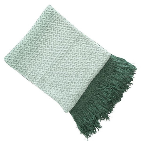 E - THROW - RHINE KNIT 130 X 180CM GREEN