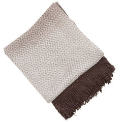RHINE KNIT THROW 130 X 180CM GREY