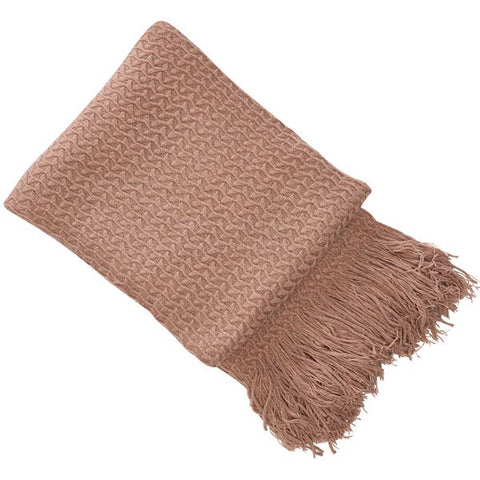 E - THROW - RHINE KNIT 130 X 180CM PINK