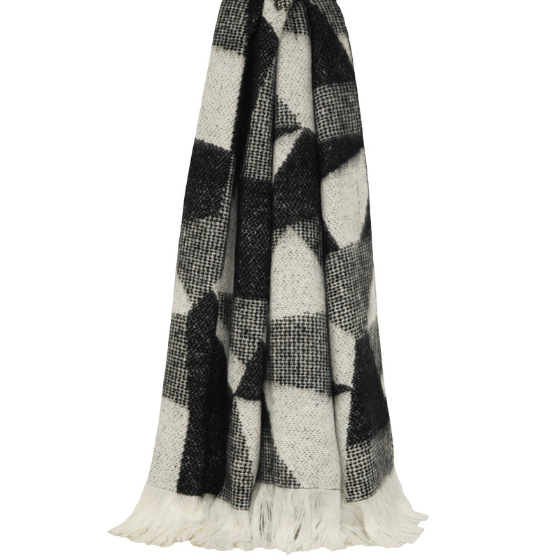 SHARD KNIT THROW BLACK 127x180CM