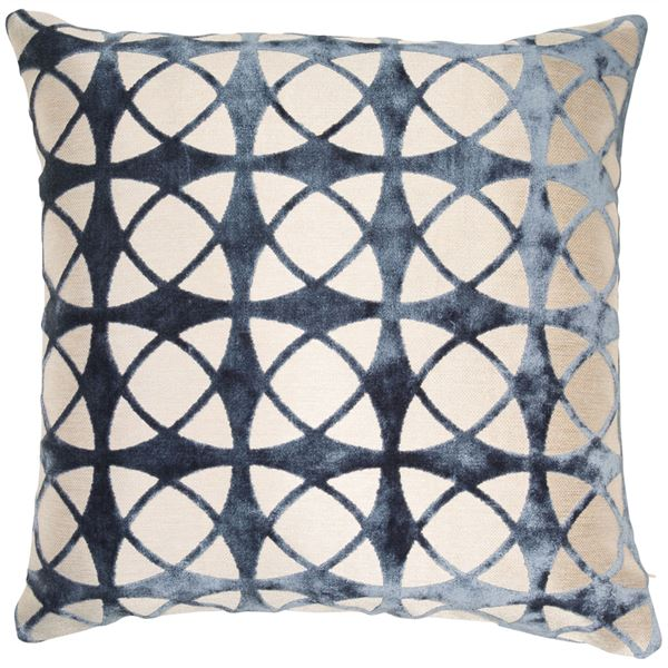 SPIRAL CUSHION - BLUE 45 X 45CM