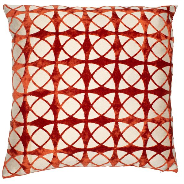 SPIRAL LARGE CUSHION - ORANGE 56 X 56CM
