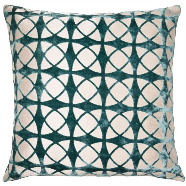SPIRAL LARGE CUSHION - TEAL 56 X 56CM