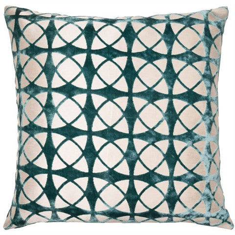 SPIRAL CUSHION - TEAL 45 X 45CM