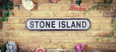 Wooden Road Sign - Stone Island