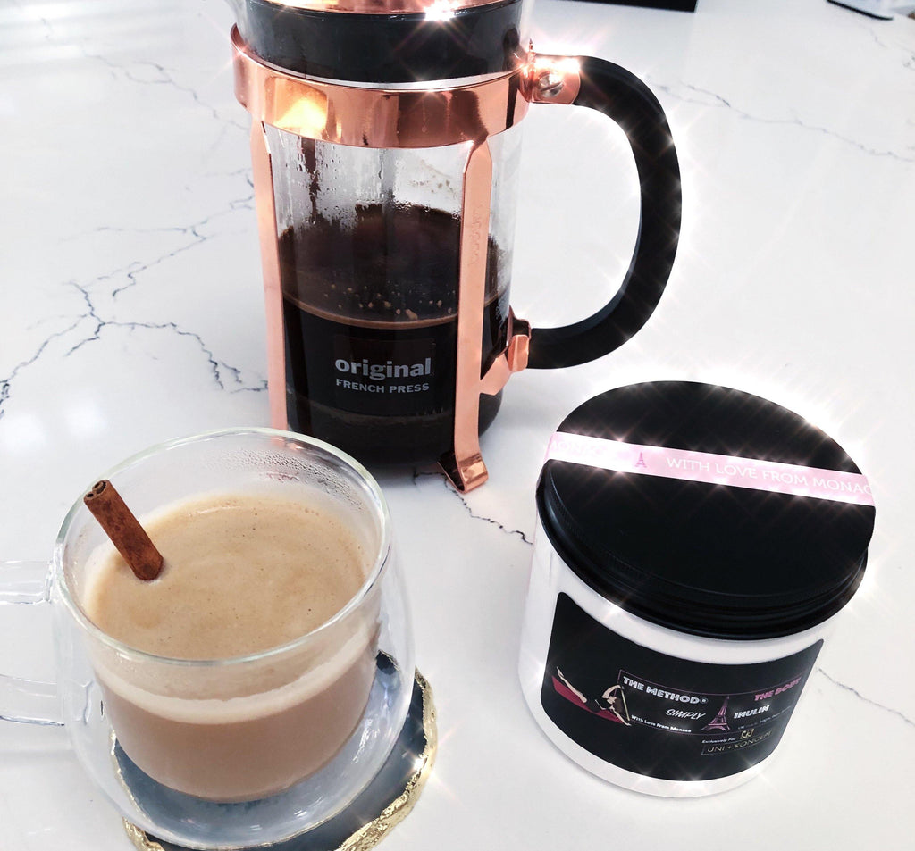 How to make French Press Chic Decaf Coffee with Simply Inulin in 10 Easy Steps - UNI+KONCEPT