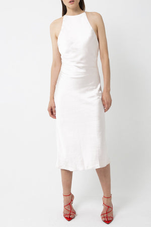 Third Form - Bias High Neck Dress  (pearl)
