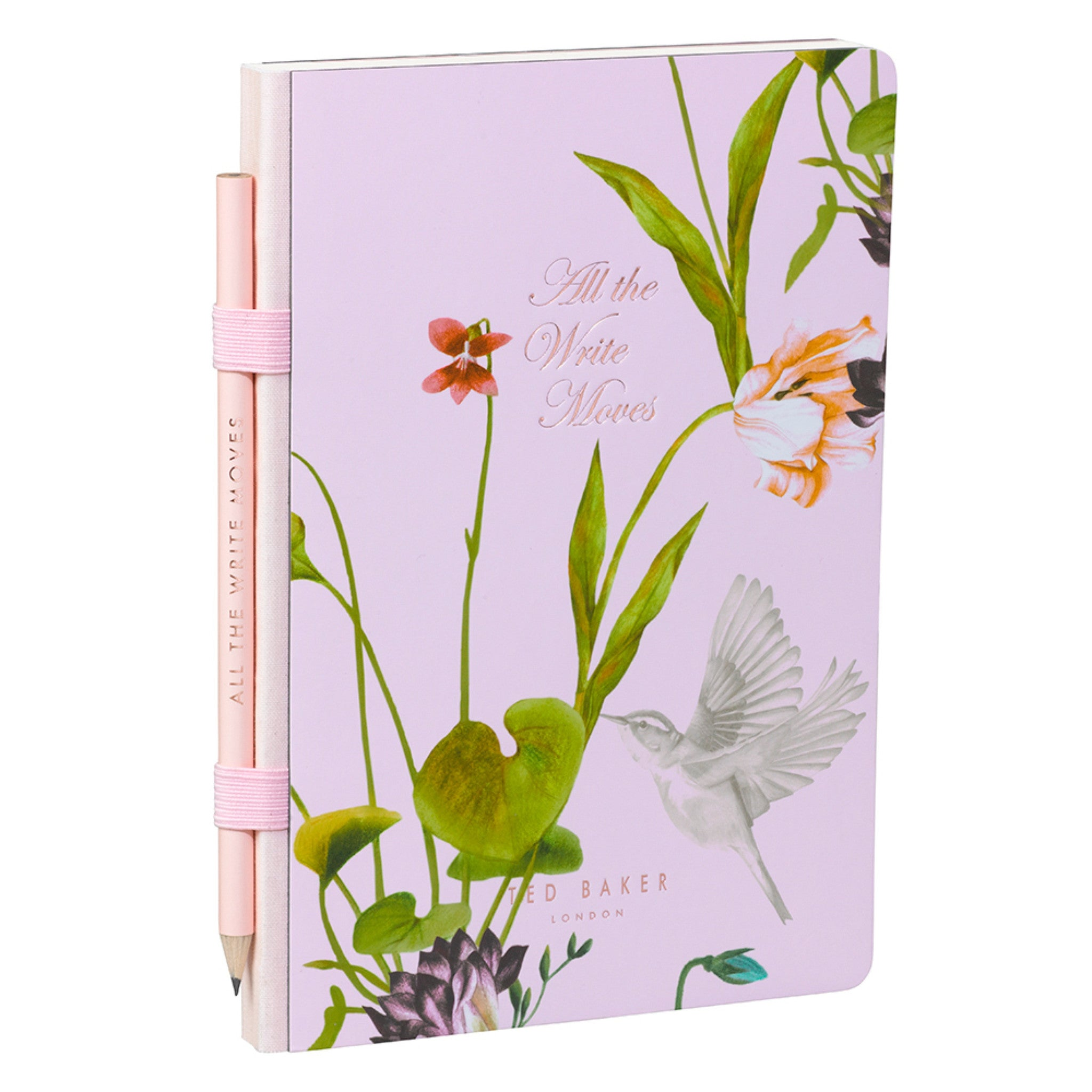 Oriental Bloom A5 Notebook plus Pencil