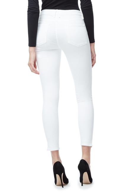 UNIKONCEPT Lifestyle boutique: Image shows the Good Leg Crop jeans in a white denim by Good American. These classic white skinny jeans are a high rise crop fit. Good Legs jeans are made to accentuate your legs and a shapely bum.